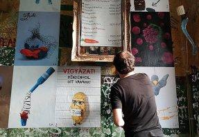 Gasztroplakátok a nagyvisnyói művésztelepről new
